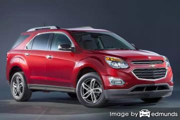 Insurance rates Chevy Equinox in Tucson