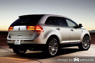 Insurance rates Lincoln MKX in Tucson