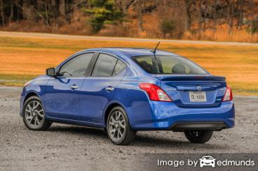 Insurance quote for Nissan Versa in Tucson