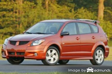 Insurance rates Pontiac Vibe in Tucson